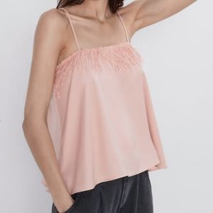 NWT Pink Feather Zara Blouse